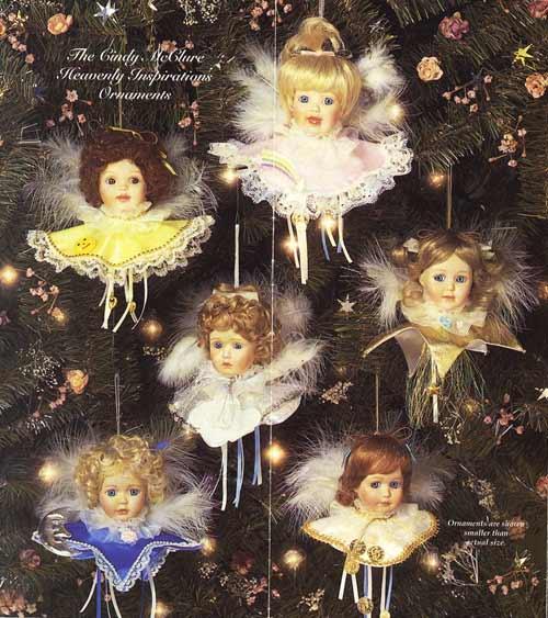 Heavenly Inspiration Ornaments Doll by Cindy M McClure 1994 Ashton Drake