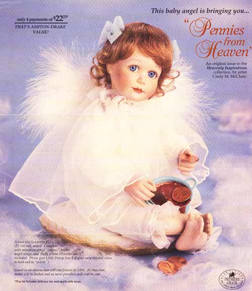 Pennys from Heaven Doll by Cindy M McClure 1997 Ashton Drake