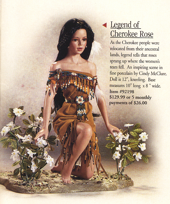 Native American Legend of the Cherokee Rose Doll by Cindy M McClure 2003 Ashton Drake