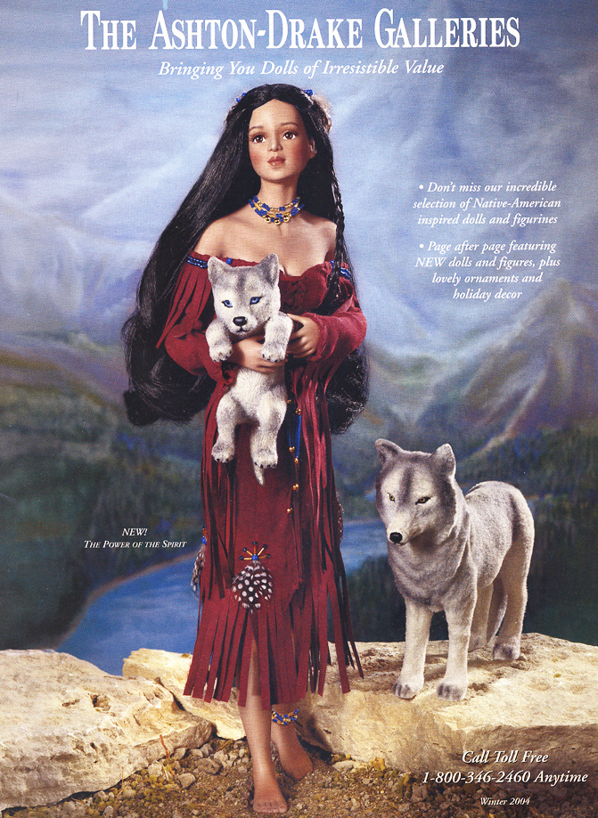 Native American The Power of the Spirit Doll by Cindy McClure 2004 Ashton Drake
