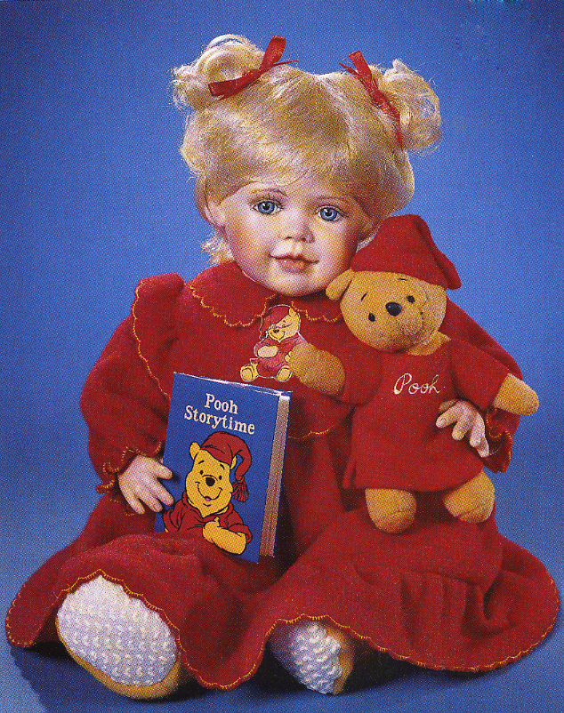 POOH Any Time is Pooh Time Doll by Cindy M MClure Disney 2000