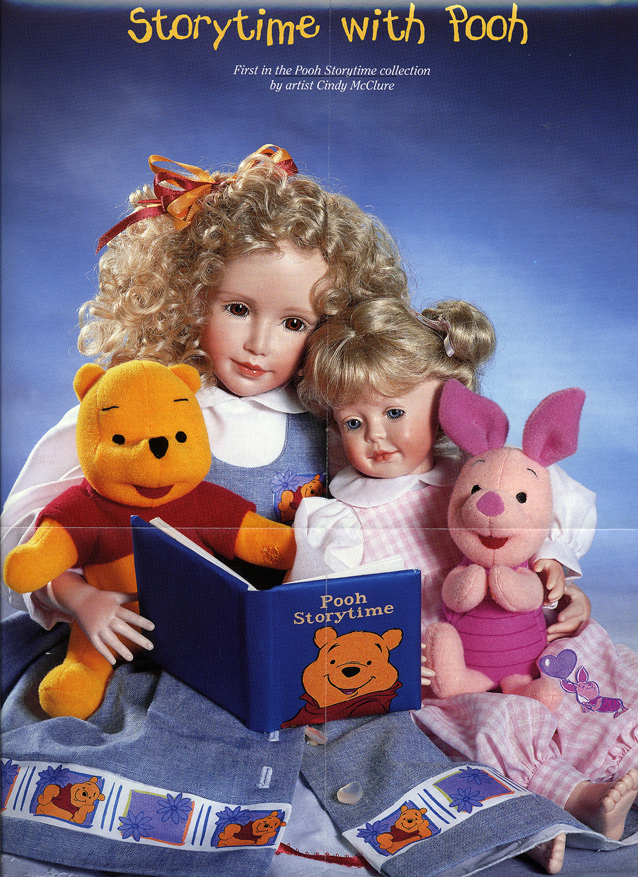 POOH Storytime with Pooh Doll by Cindy McClure Disney 1999 Ashton Drake