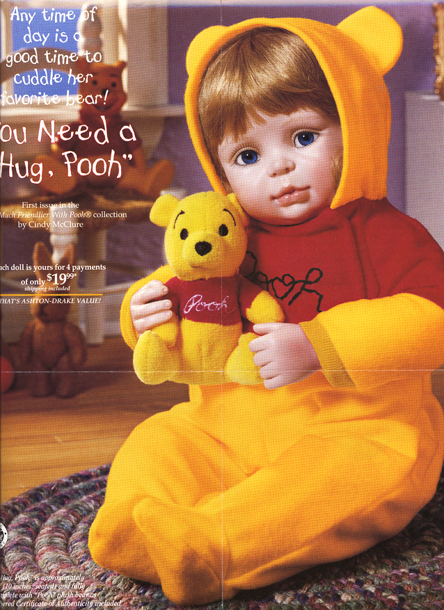 POOH You Need a Hug Pooh Doll by Cindy McClure Disney 1997 Ashton Drake