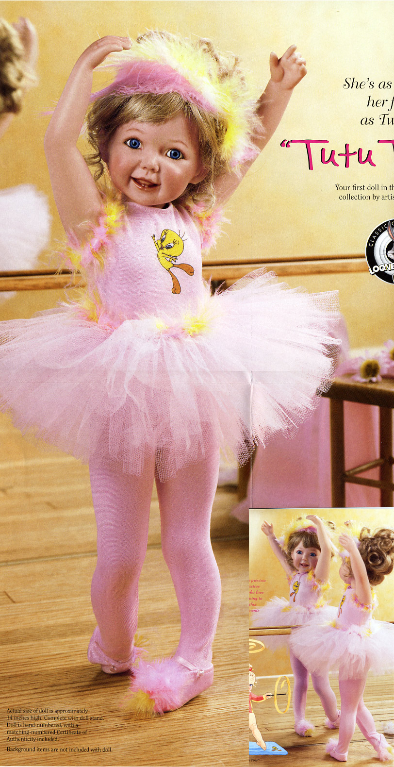 Warner Brothers Doll Tweety Ballerina by Cindy McClure 2002