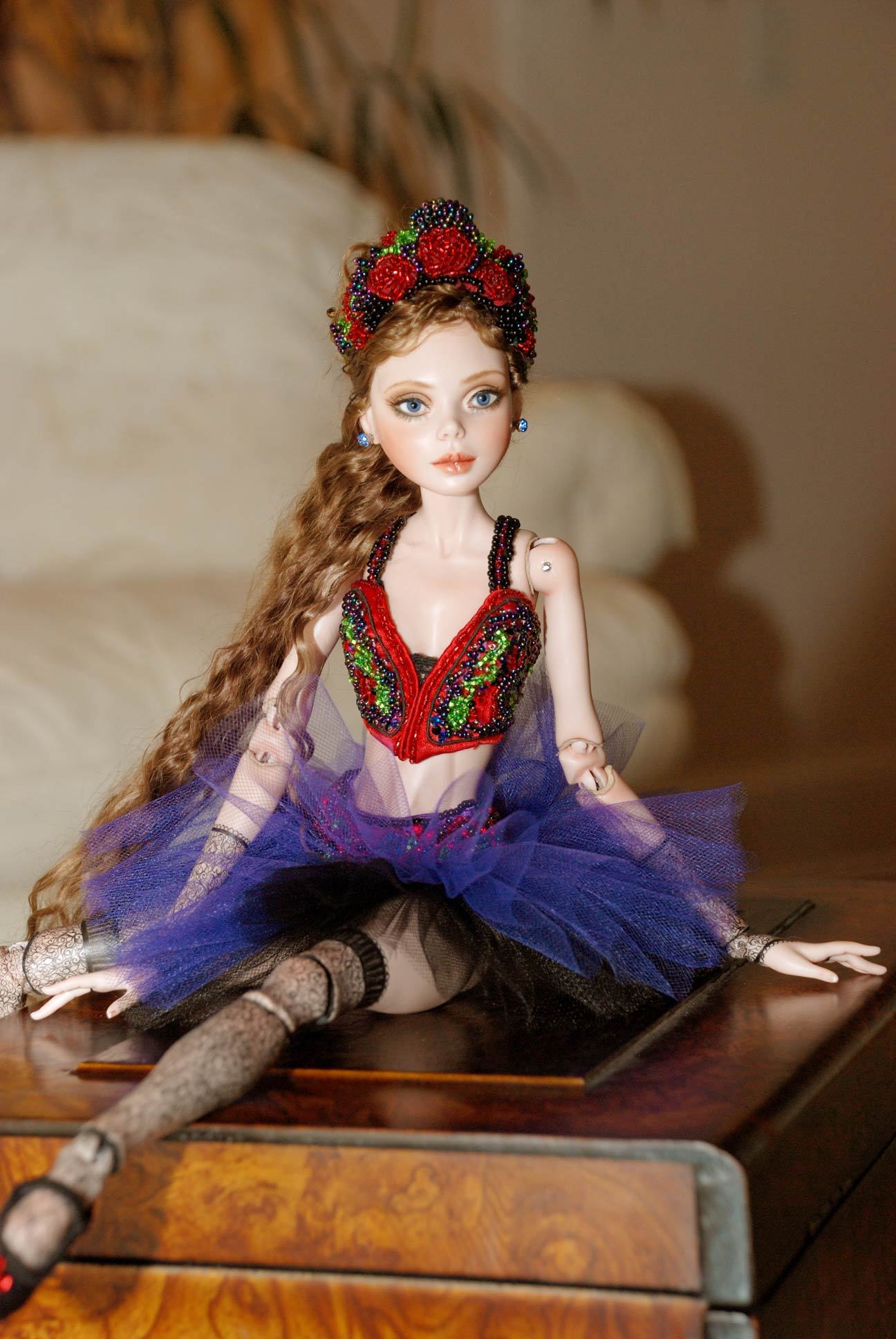 "Ball Jointed Doll (BJD) ""Ballet With Attitude"" Original by Cindy M McClure 2010 Nude"