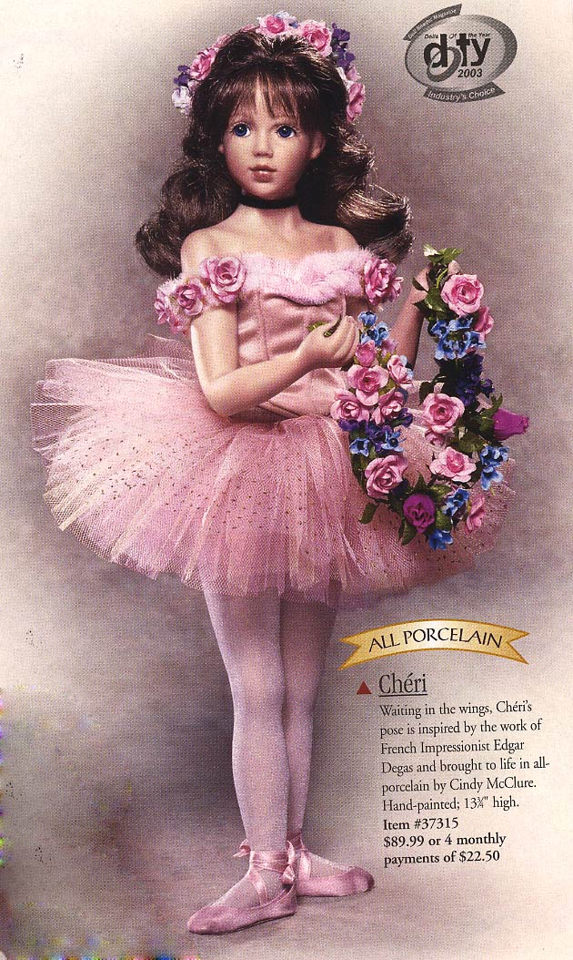 Cheri Degas Ballerina doll by Cindy McClure 2003