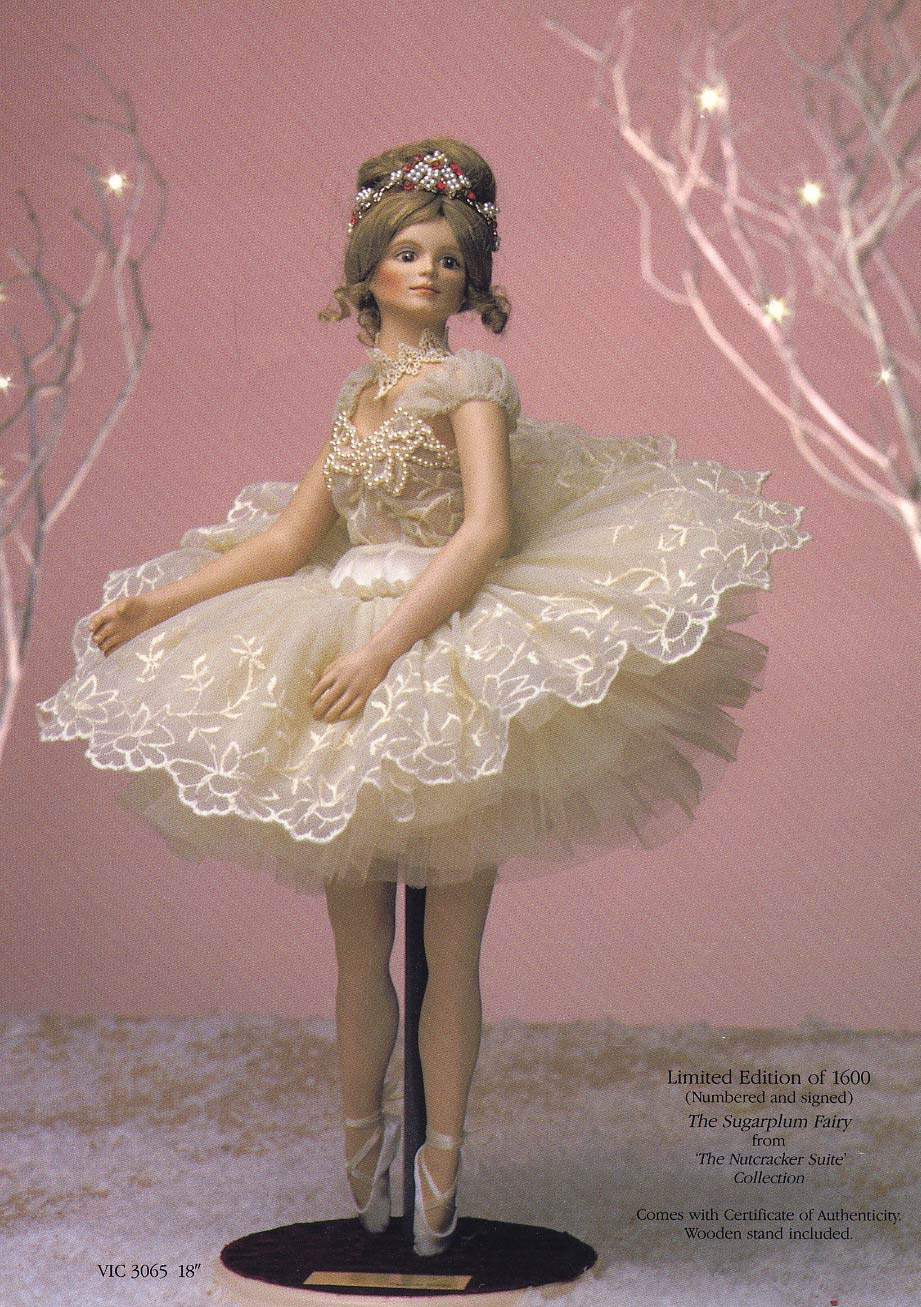 Sugar Plum Fairy Ballerina doll by Cindy McClure 1989