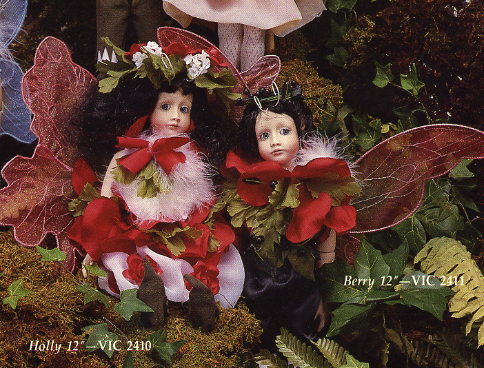 Holly and Berry Fairy Dolls by Cindy McClure 1986