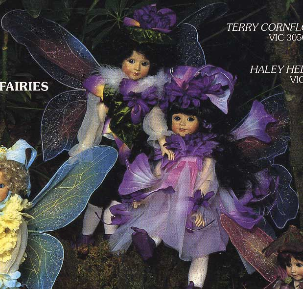 Terry Cornflower and Haley Heliotrope Fairy Dolls by Cindy McClure 1988