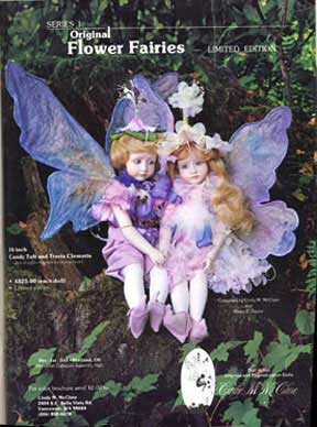 Travis Clematis and Candy Tuft Fairy Dolls by Cindy McClure Dec 1984 Artist Edition (thumbnail)