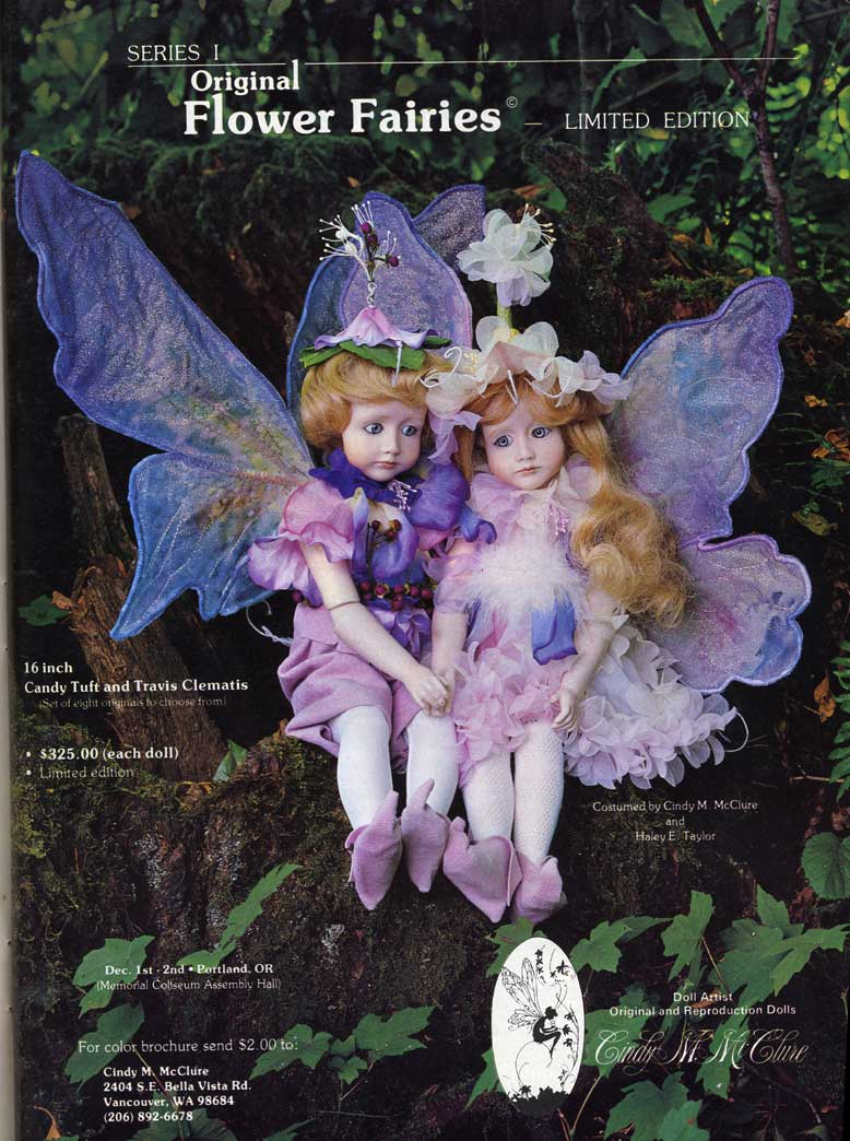 Travis Clematis and Candy Tuft Fairy Dolls by Cindy McClure Dec 1984 Artist Edition
