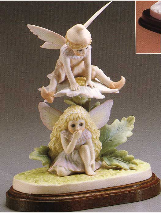 Daisyand Ragged Robin figurine by Cindy McClure 1987