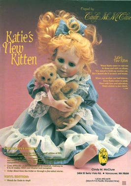 Katies New Kitten by Cindy McClure Artist Edition 1988 (thumbnail)