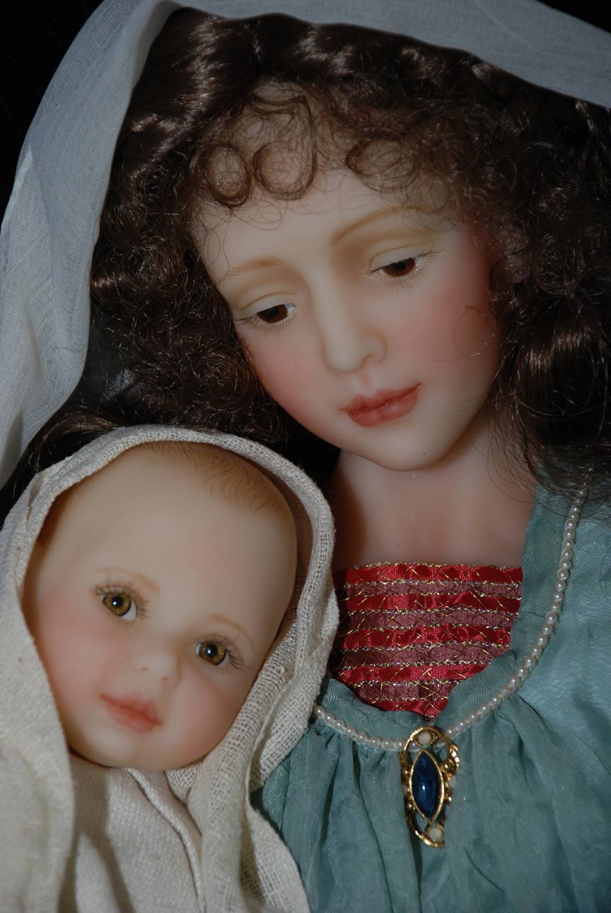 Wax Sculpt Madonna And Child The Presentation Cindy McClure RARE (4)