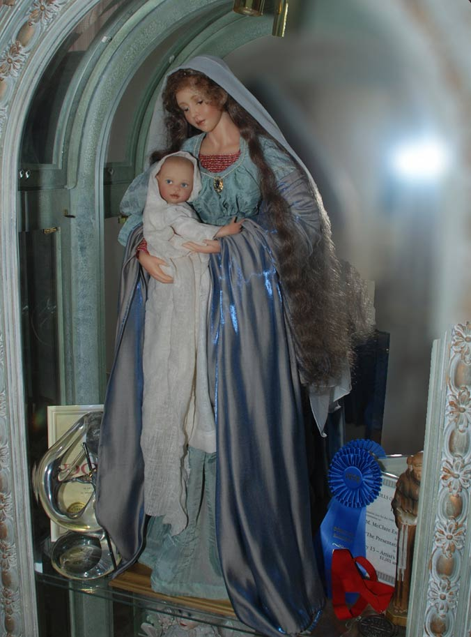 Wax Sculpt Madonna And Child The Presentation Cindy McClure RARE (7)