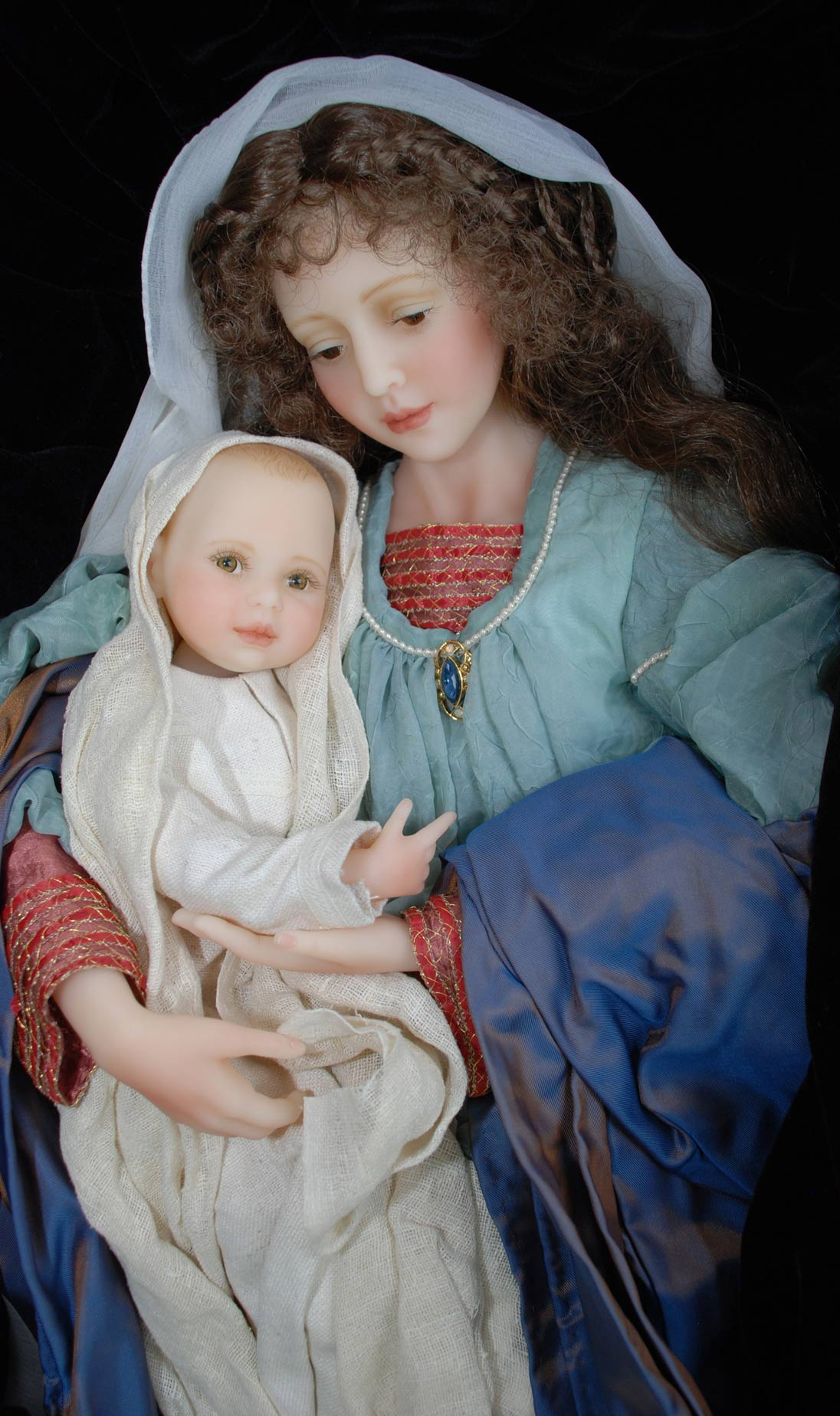 Wax Sculpt Madonna And Child The Presentation Cindy McClure RARE (8)