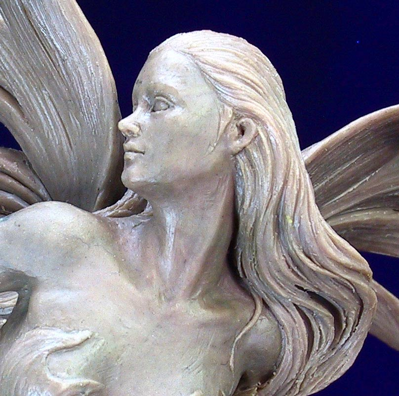Mermaid Sculpt In Progress by Cindy McClure