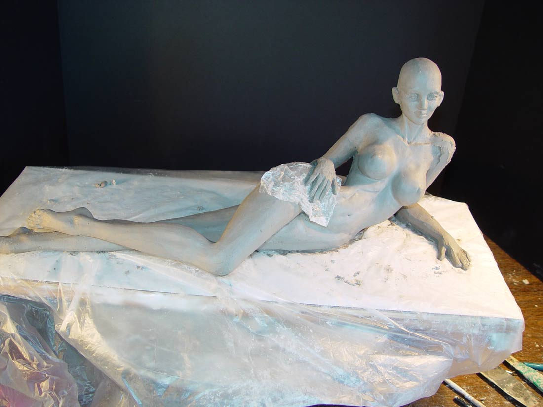 Wind Whisperer Sculpt in Process by Cindy McClure 2005