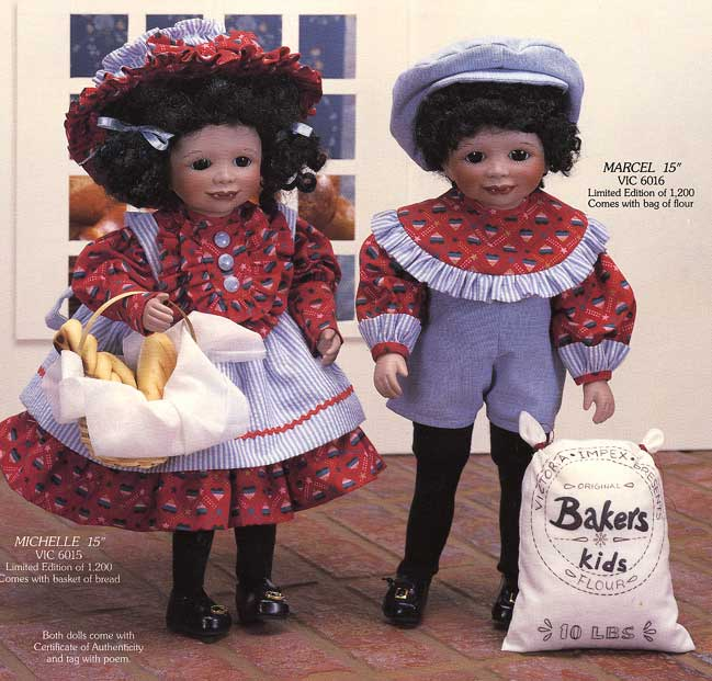 Michelle and Marcel Bakers Kids doll by Cindy McClure 1988 Victorias Collectibles