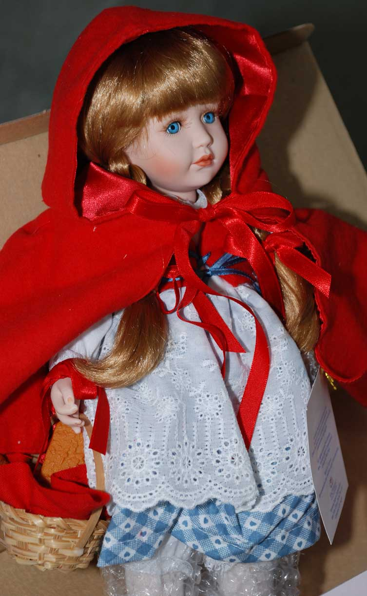 Red Riding Hood doll by Cindy McClure 1989 Victorias Collectibles