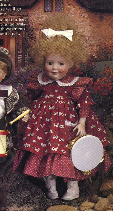 Sally Marching Band musical doll by Cindy McClure 1992 Victorias Collectibles
