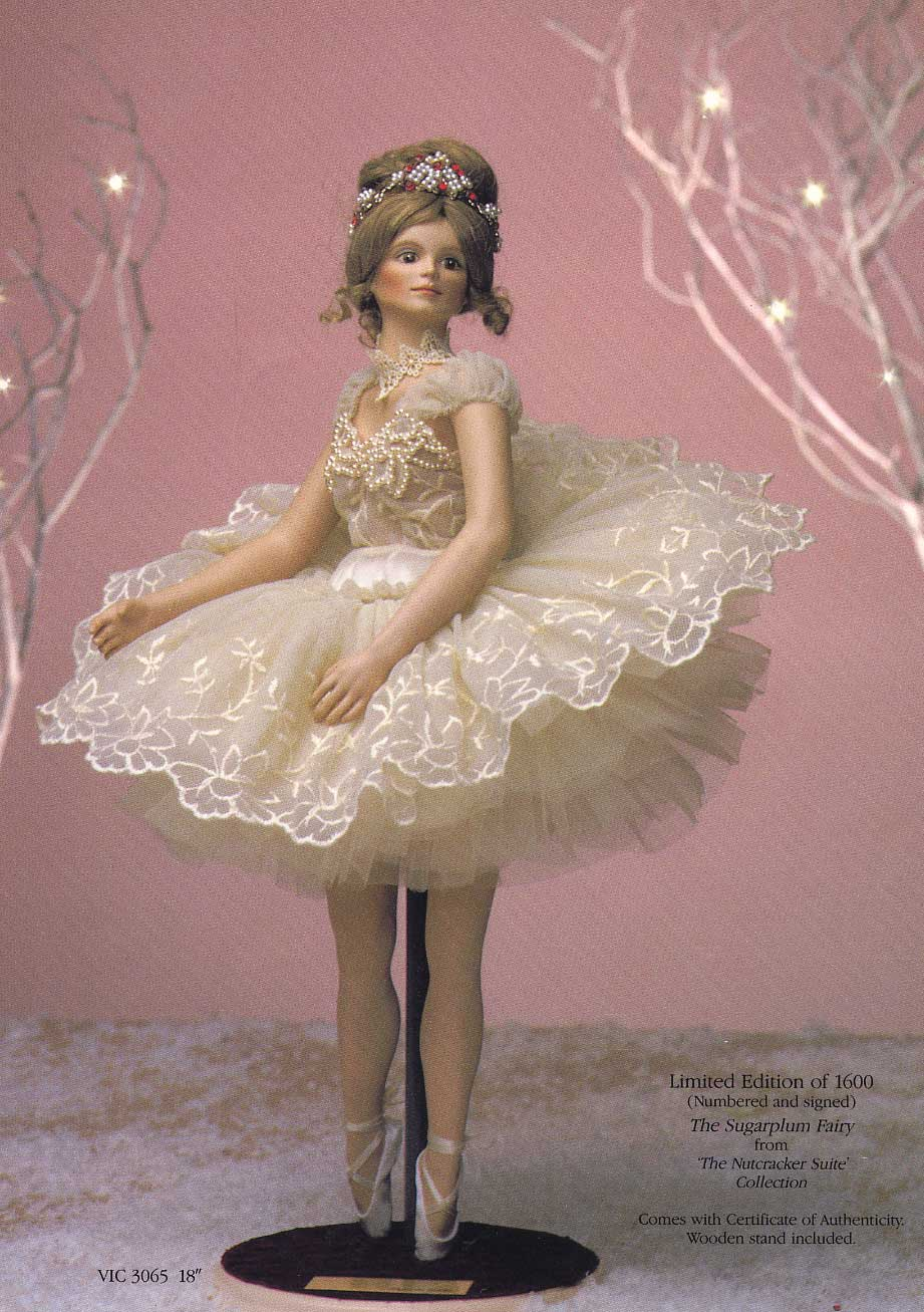Sugar Plum Fairy dolls by Cindy McClure 1989 Victorias Collectibles