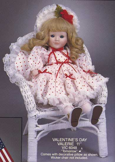 Valintines Musical doll by Cindy McClure 1992