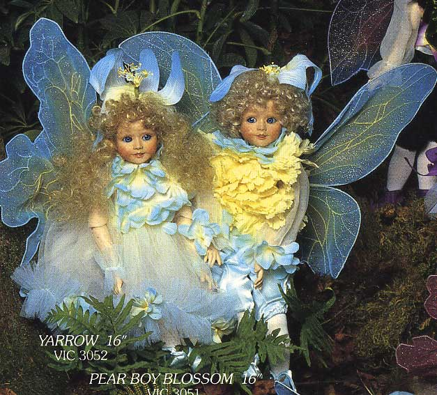 Yarrow and Pear Boy BLossom by Cindy-McClure 1989 Victorias Collectibles 1988