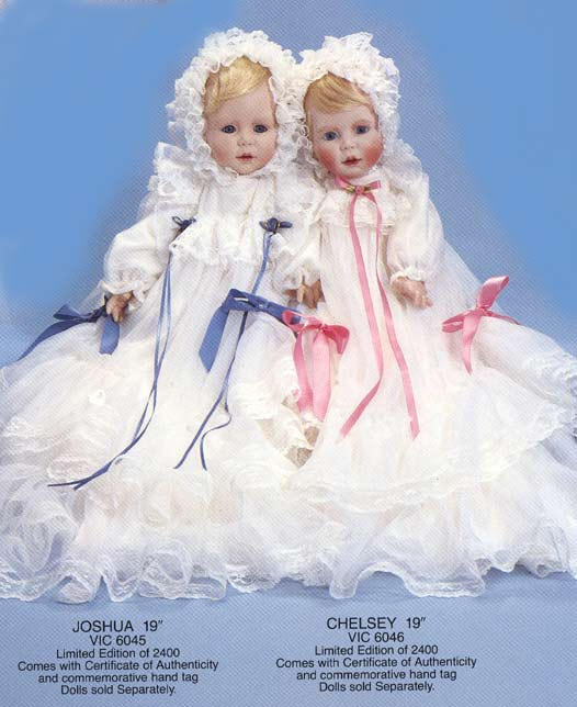Twins by Cindy M McClure 1992 Victorias Collectibles