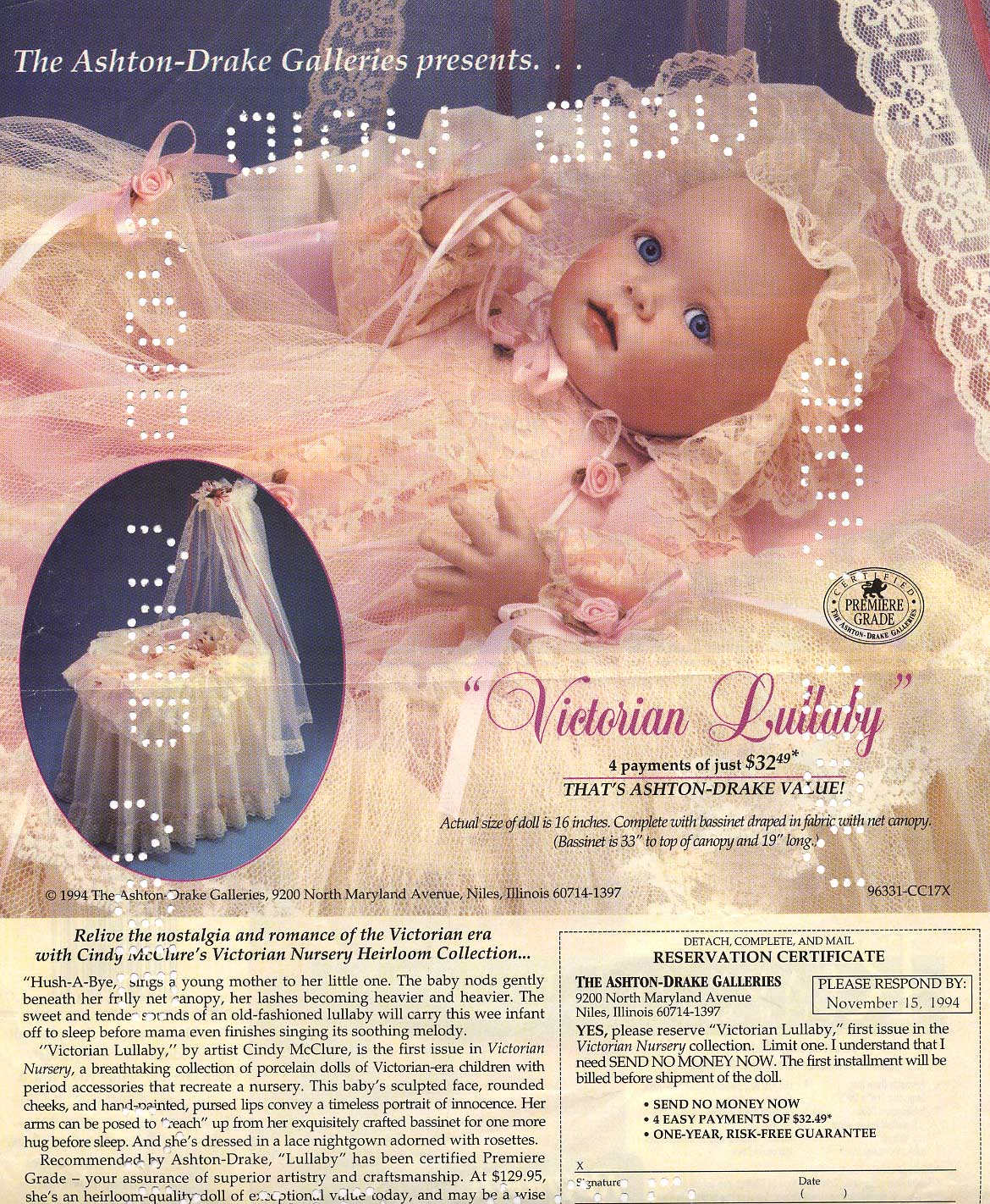 Victorian Lullaby by Cindy McClure 1994