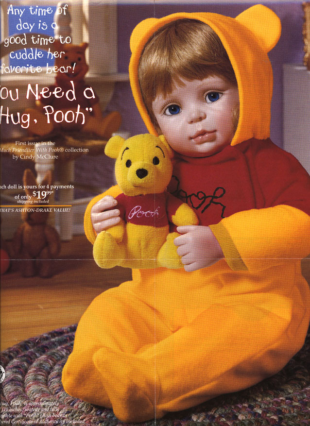 You Need a Hug Pooh by Cindy McClure Disney 1997
